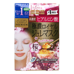 Kose Clear Turn Premium Hyaluronic Acid Royal Jelly Facial Mask w Sakura Scent 4pcs