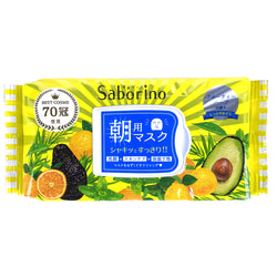 BCL Saborino Premium Morning Care Moisturizing Facial Mask (Citrus & Avocado) 32pcs