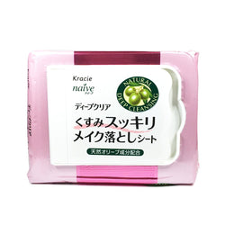 Kracie Naive Deep Clear Makeup Cleansing Sheet Brightening 50pcs