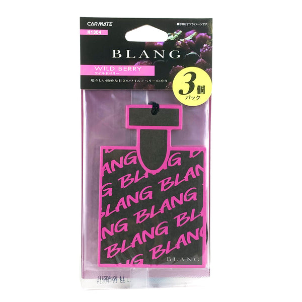 Carmate BLAN GH1304 Hanging Monogram Car Air Freshner Wild Berry 3pcs
