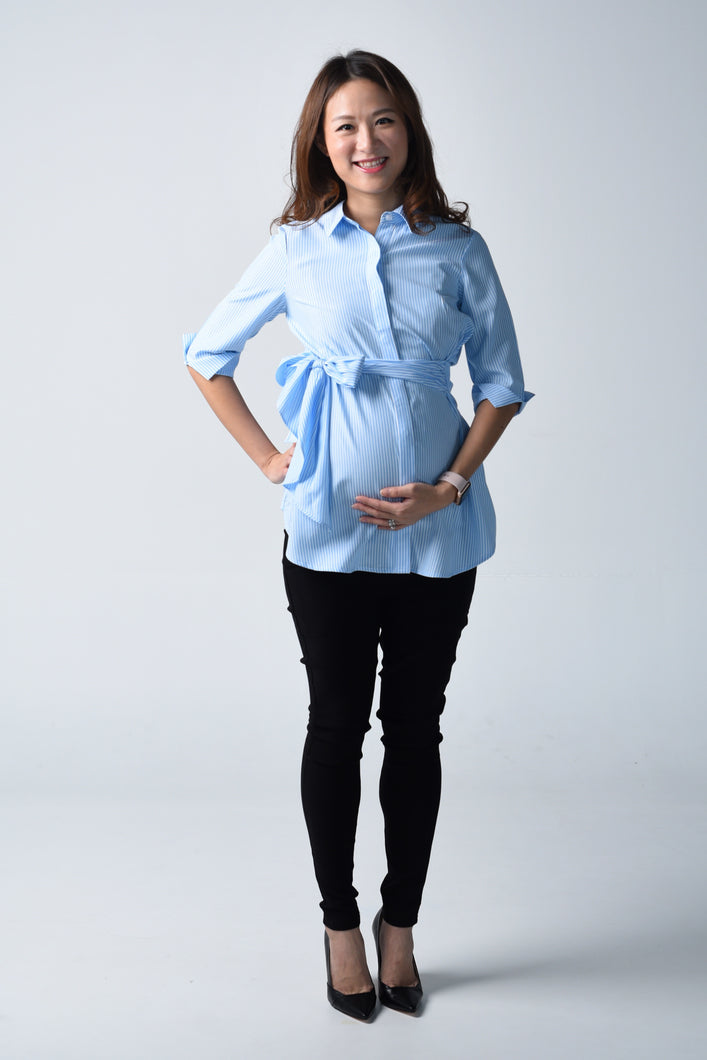 Joanne Stripe Maternity Shirt