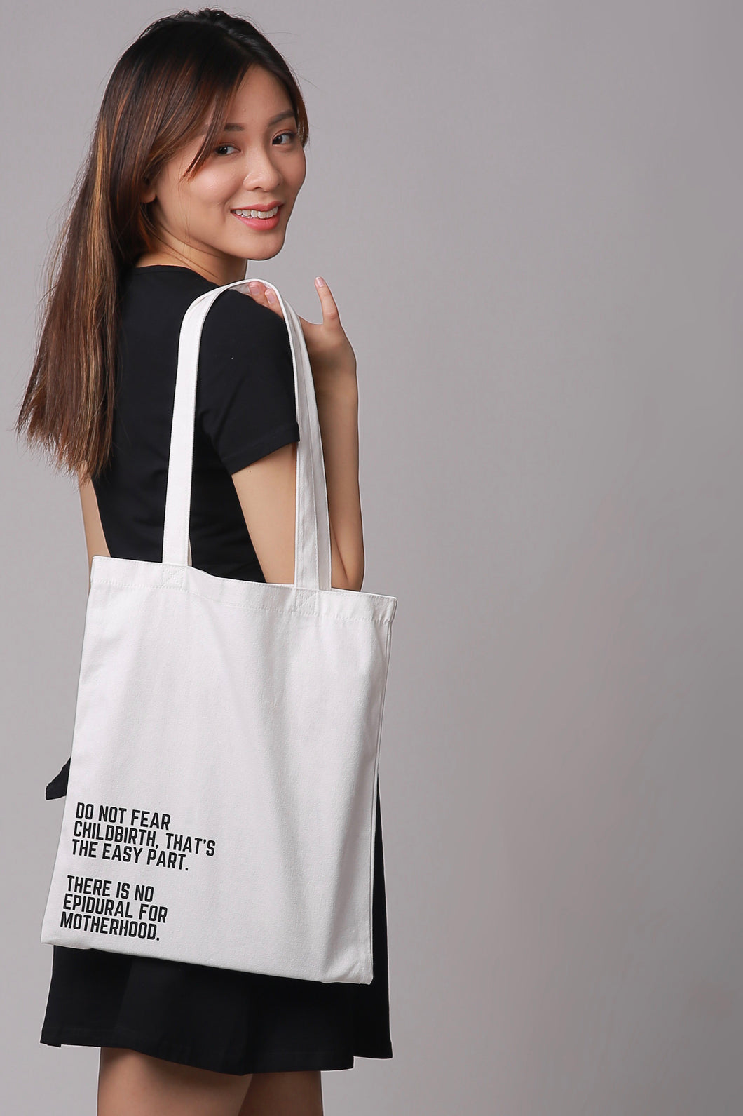 Tote Bag: No epidural for parenthood