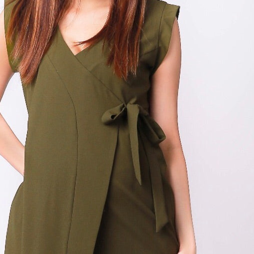 b792a9e64ae ... Tanya Olive Side Tie Maternity Dress ...