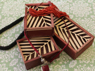 Palm leaf Trinket Boxes