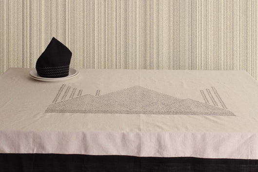 Misty mountains-Khadi Table linen