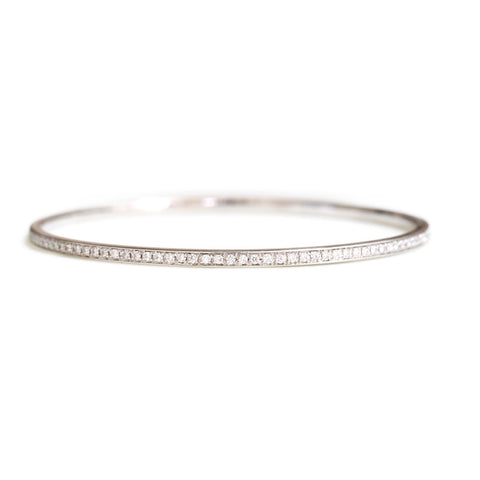 18ct White gold diamond bangle