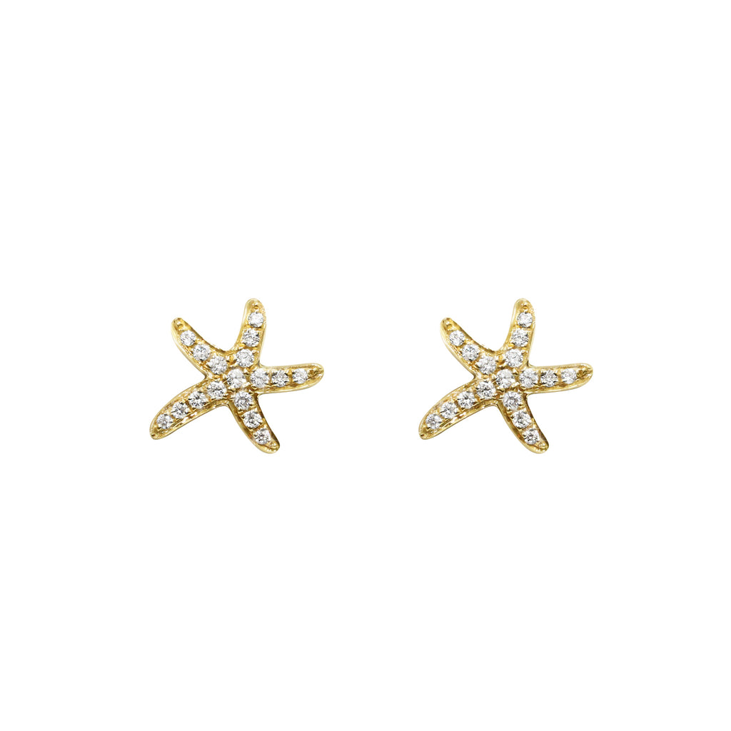 18ct Yellow gold starfish earrings