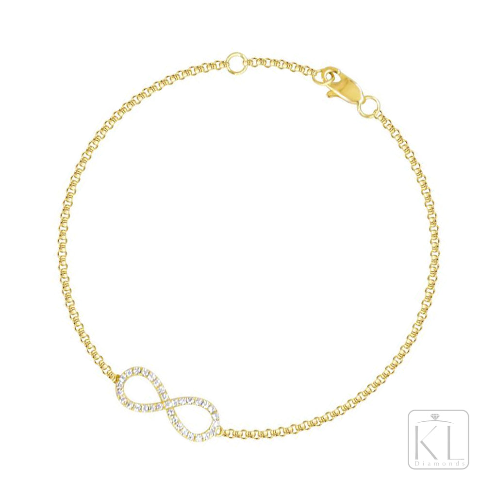 Infinite 18ct Yellow Gold Diamond Bracelet