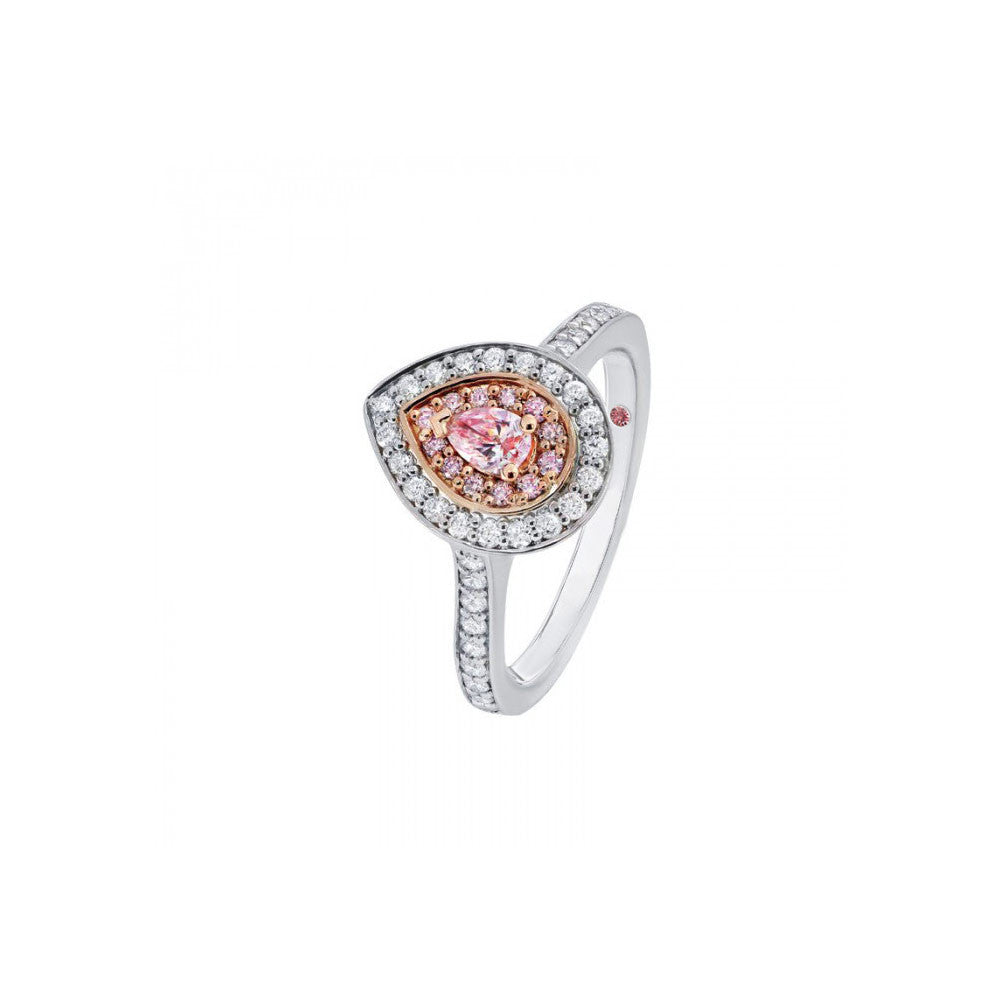diamond pink white tone ring rings engagement gold halo two gabriel