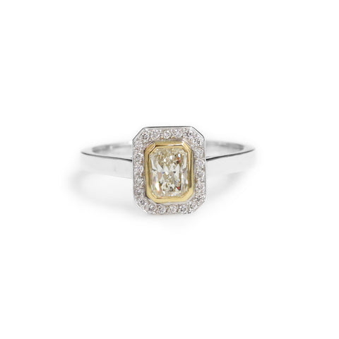 jewellers ann ring canada gold online coloured rings tw louise tri fashion solitaire in diamond layered