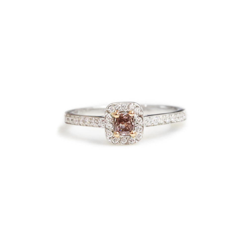 18ct White gold pink diamond engagement ring