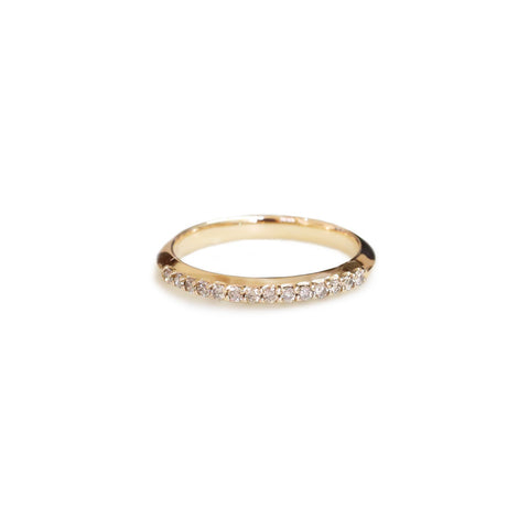 Champagne diamond wedding ring