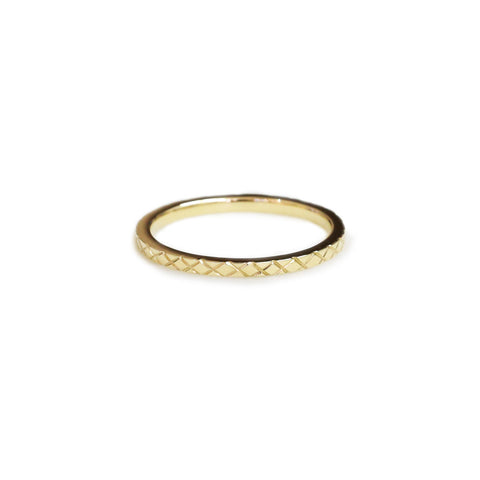 18ct Yellow gold stacking ring