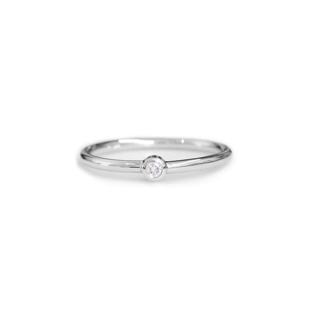Platinum & diamond fine ring