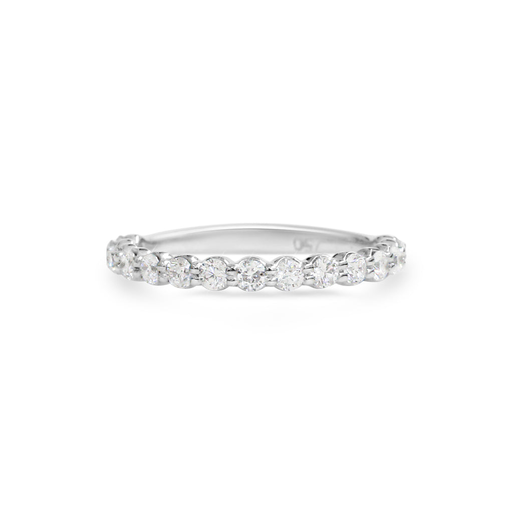 18ct White gold share claw diamond wedding ring