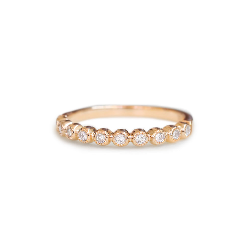 18ct Rose gold diamond wedding ring