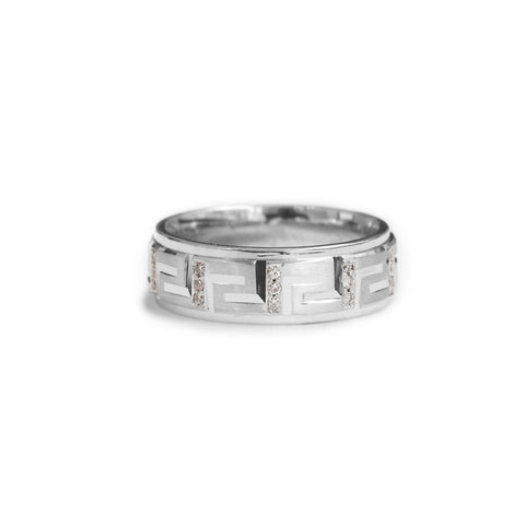 18ct White gold gents diamond wedding ring