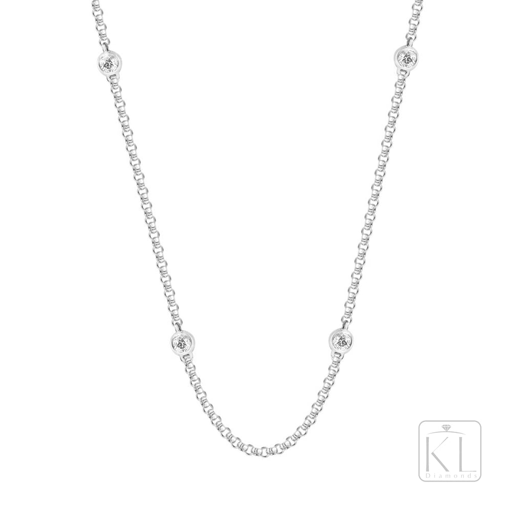 Yardley 18ct White Gold Diamond Chain