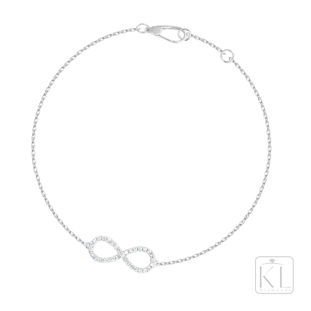 Infinite 18ct White Gold Diamond Bracelet