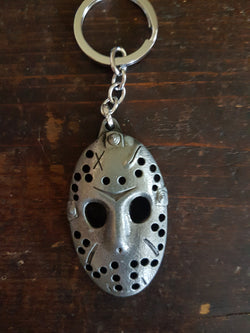 Silver Metal 'Friday The 13th' Keyring