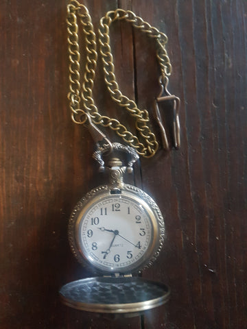 Bronze Coloured 'Nightmare Before Christmas' Pocket Watch