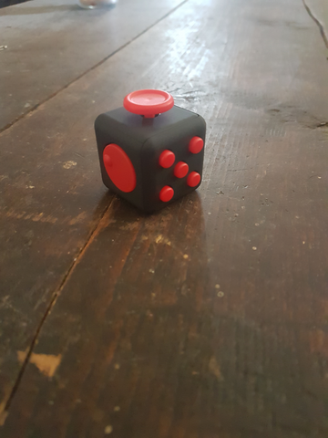 Black & Red Fidget Cube
