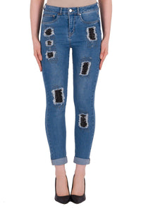 Distressed Denim Jeans by Joseph Ribkoff - Weekends on 2nd Ave - Joseph Ribkoff