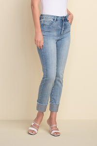 Joesph-Ribkoff-Sparkle-Cuff-Jeans-Blue-212915-Half View_1200x