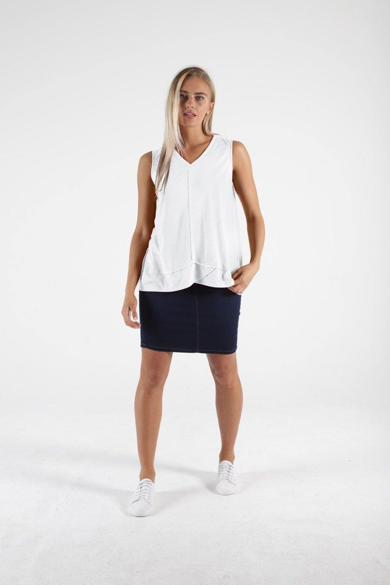 Halle Tank by Betty Basics in White