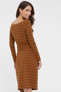 Bamboo Body Audrey Dress - Ginger Stripe | Buy Online at Weekends