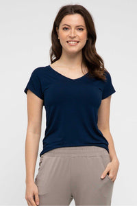 Belle Tee in Navy by Bamboo Body