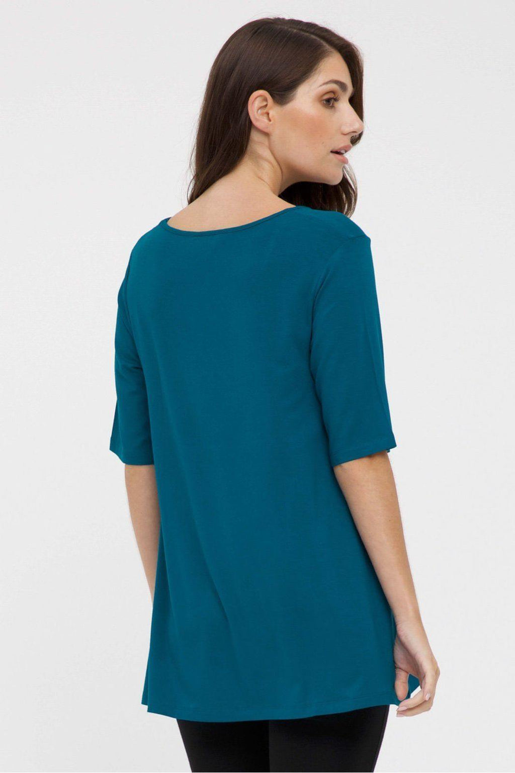 Bamboo Body Carter Tunic Top - Dark Teal | Buy Online at Weekends