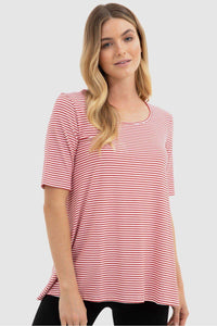 Carter Tunic - Red + White Stripe