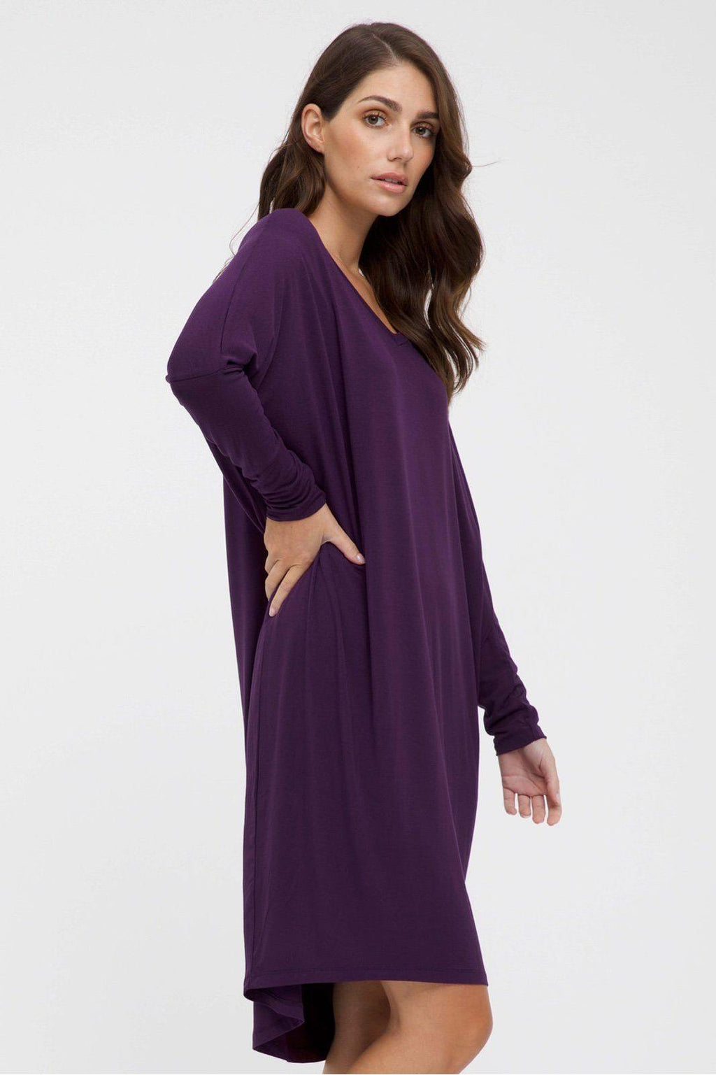 Bamboo Body Caz Dress - Plum | Buy Online at Weekends
