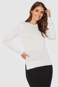 Bamboo Body Crew Neck Knit - Soft Marle | Buy Online at Weekends