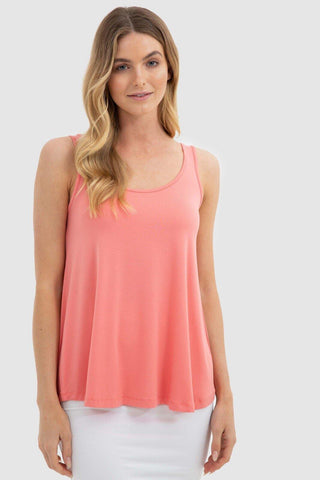 Relaxed Singlet by Bamboo Body in Coral