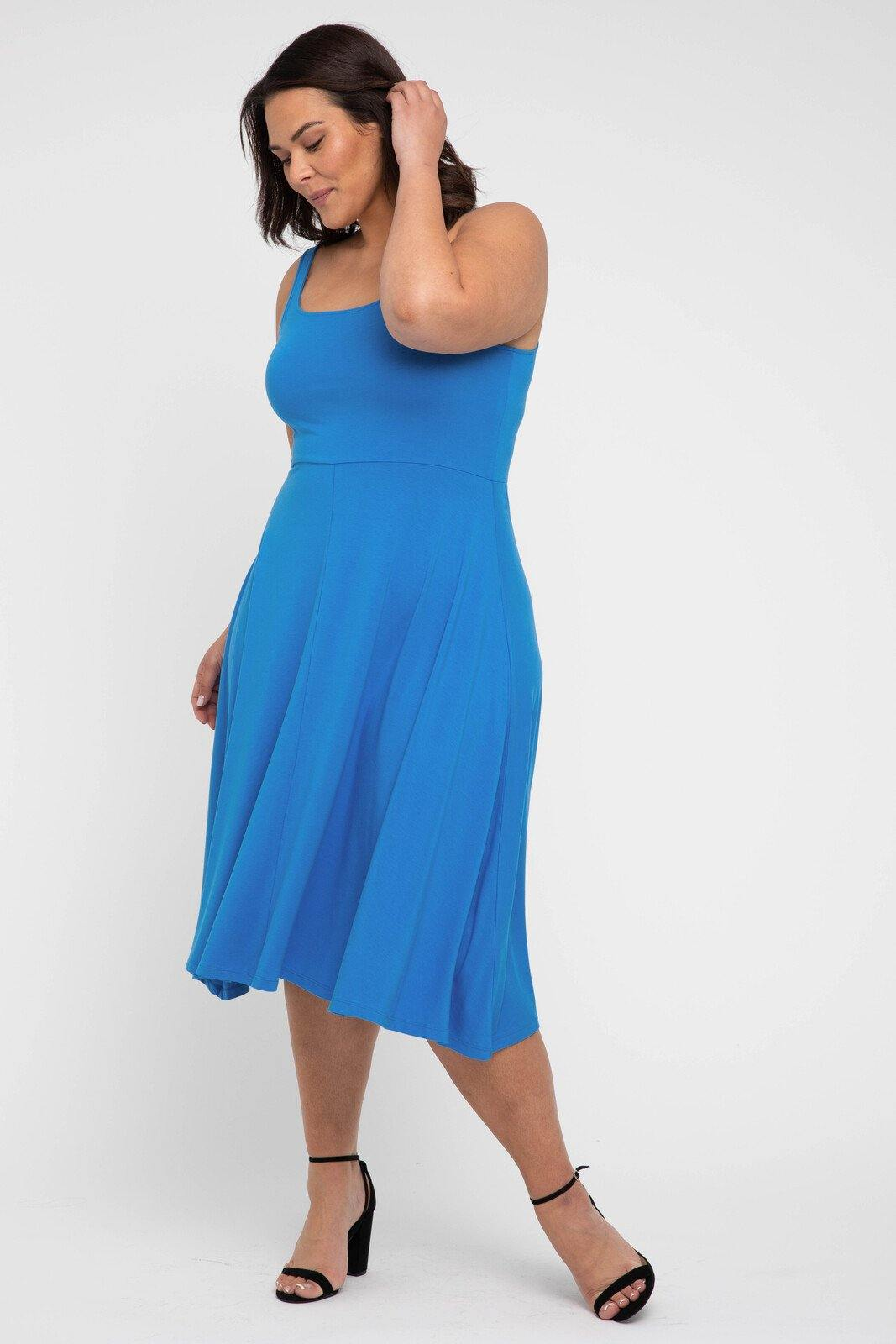 Melanie Dress in French Blue from Bamboo Body - Weekends on 2nd Ave