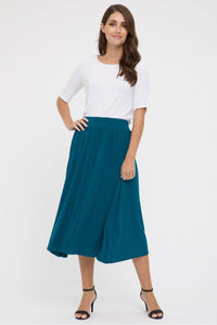 Bamboo Body Midi Skirt - Dark Teal | Buy Online at Weekends