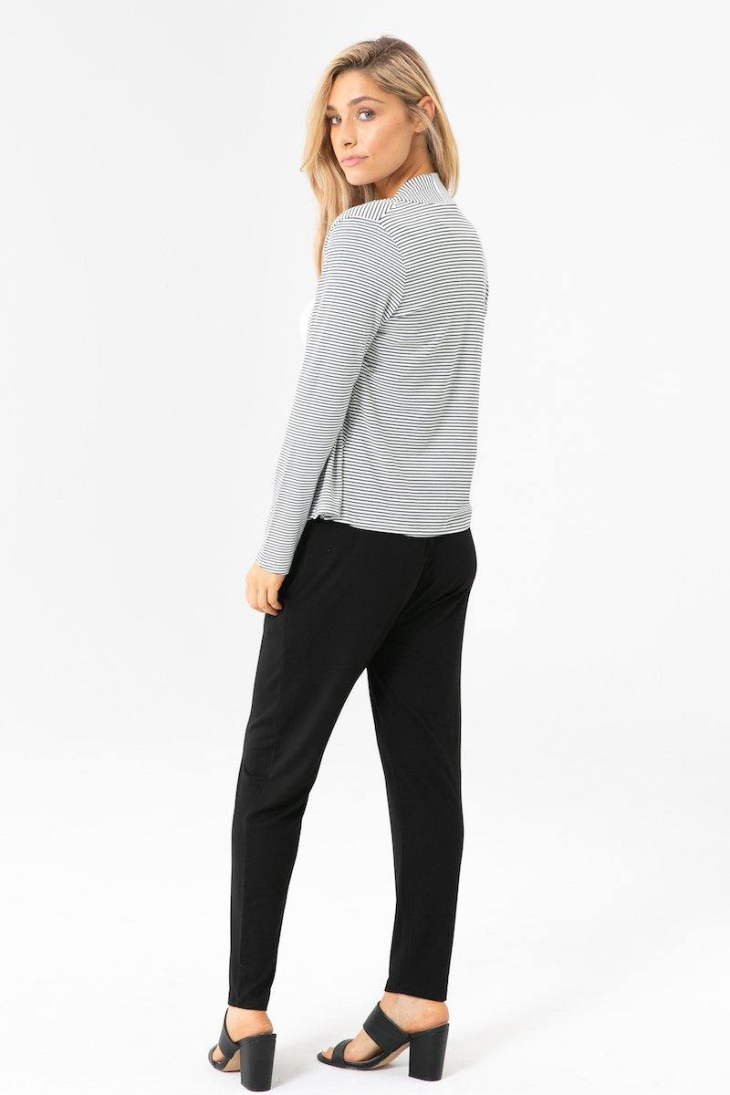 Bamboo Body Peggy Trousers - Black | Buy Online at Weekends