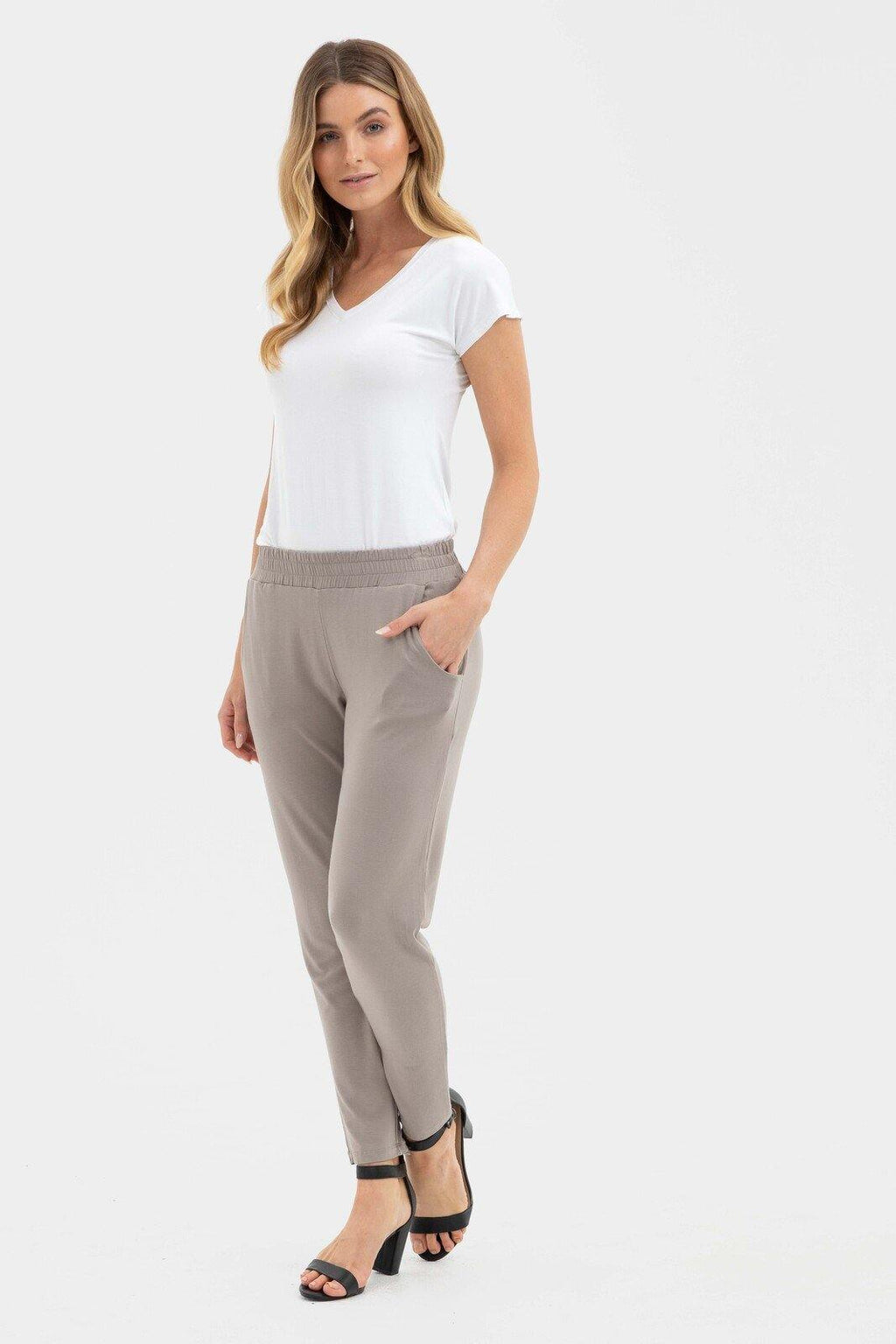 Bamboo Body Peggy Trousers - Stone | Buy Online at Weekends