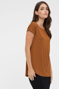 Bamboo Body Pia Bamboo Top - Ginger | Buy Online at Weekends