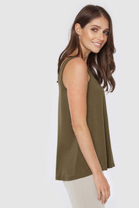 Relaxed Singlet by Bamboo Body in Dark Olive