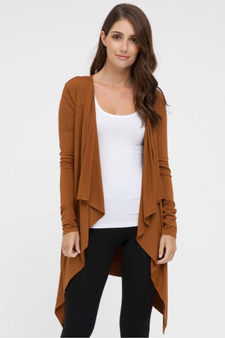 Bamboo Body Waterfall Cardigan - Ginger | Buy Online at Weekends