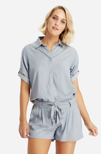 Bamboo Body Woven Bamboo Blouse - Chambray | Buy Online at Weekends