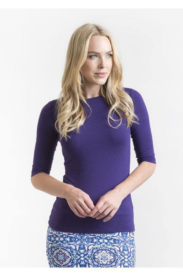 Bamboo Body Ada Bamboo Boat Neck Top - Acai | Buy Online at Weekends