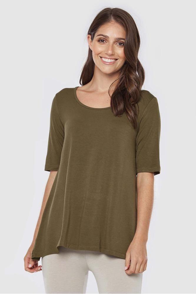 Carter Bamboo Tunic Top - Bamboo Body | Buy Online at Weekends