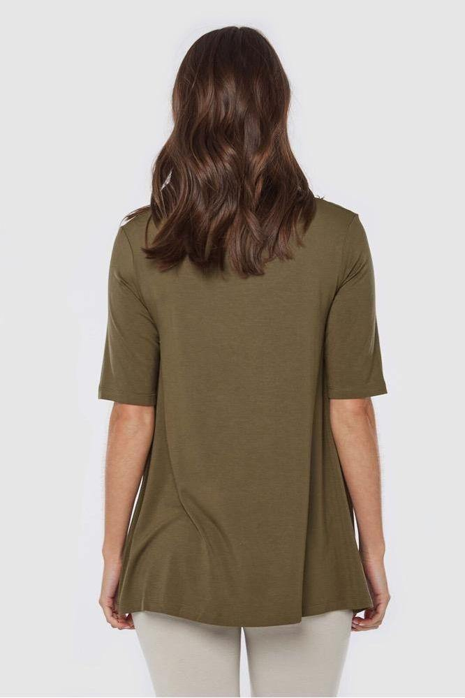 Bamboo Body Carter Tunic Top - Dark Olive | Buy Online at Weekends