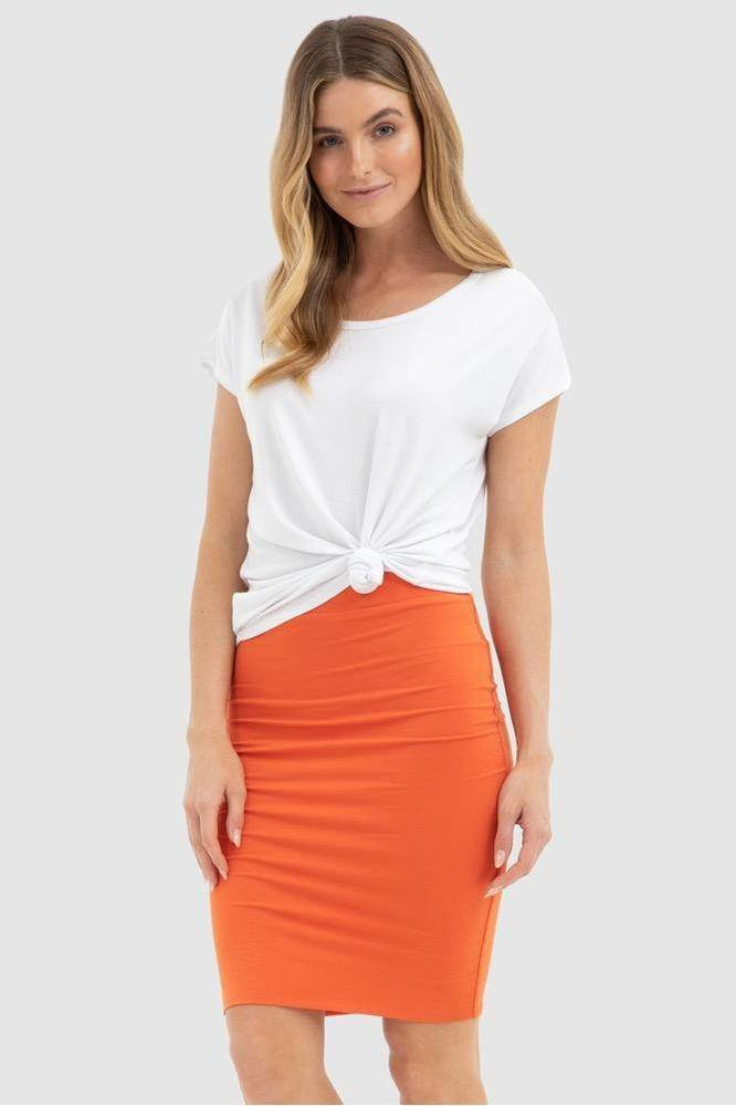 Bamboo Body Double Layer Tube Skirt - White | Buy Online at Weekends