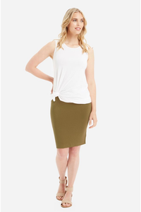 Bamboo Body Double Layer Tube Skirt - White - Weekends
