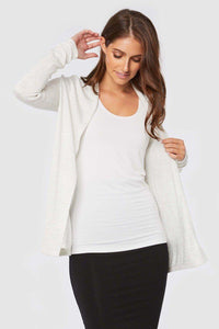 Bamboo Body Duster Jacket- Soft Marle | Buy Online at Weekends